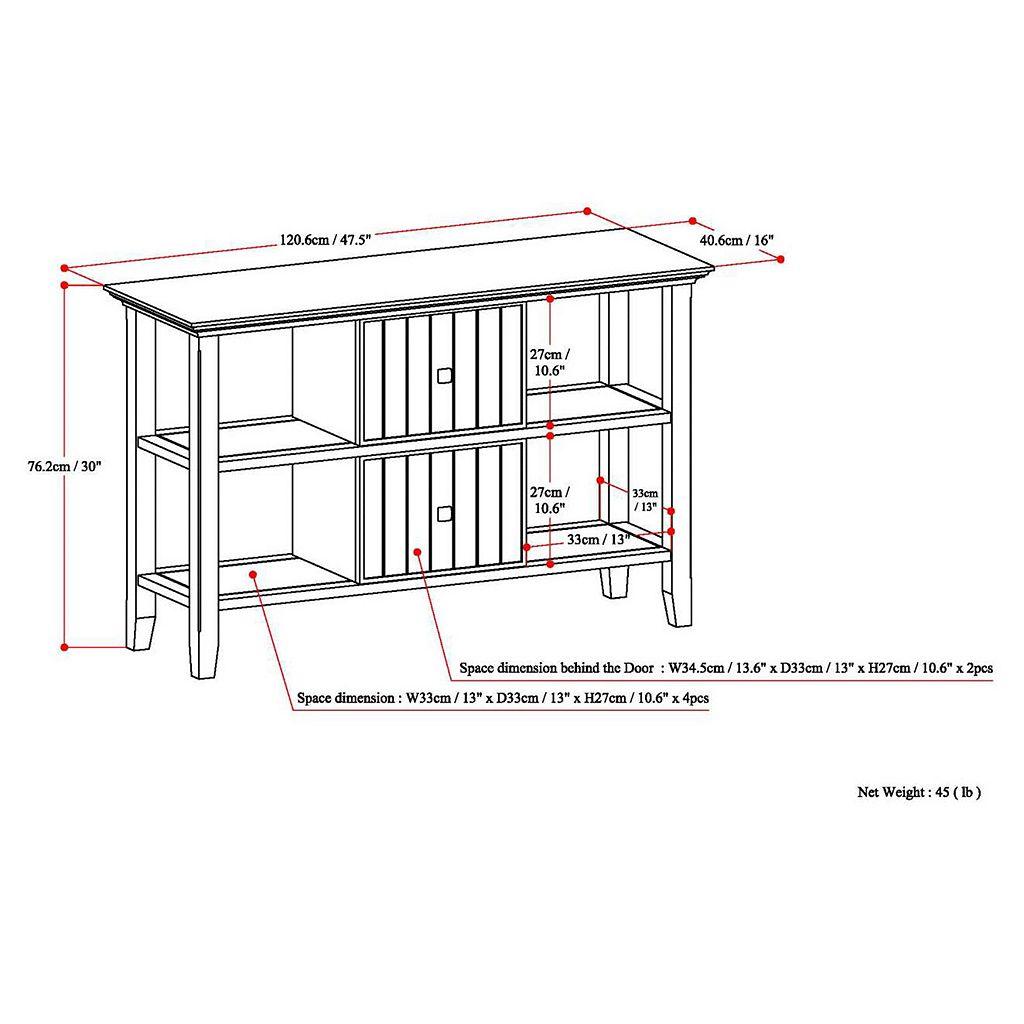 Simpli Home Acadian Console Table