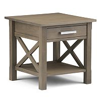 Simpli Home Kitchener 1-Drawer End Table