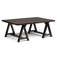 Simpli Home Sawhorse Coffee Table