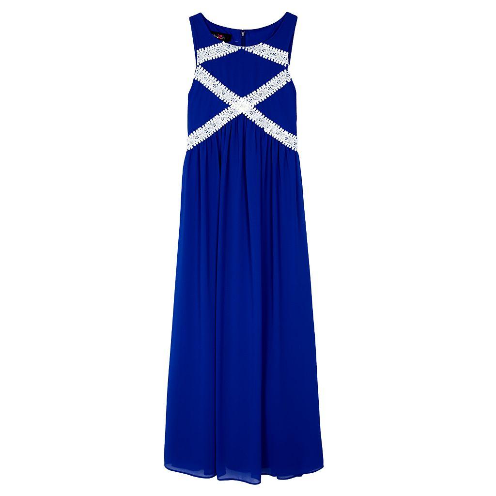 Girls 7-16 IZ Amy Byer Crisscross Crochet Maxi Dress