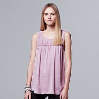 Women's Simply Vera Vera Wang Mixed-Media Tank