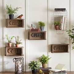 INK+IVY  Wood Brick Mold Wall Decor 4-piece Set