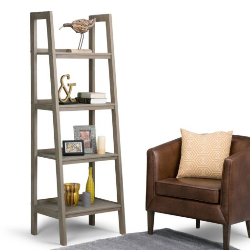 Simpli Home Sawhorse Ladder Bookshelf