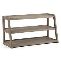 Simpli Home Sawhorse 3-Shelf TV Stand