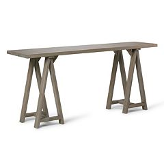 Simpli Home Sawhorse Large Console Table