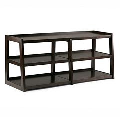 Simpli Home Sawhorse Large 3-Shelf TV Stand