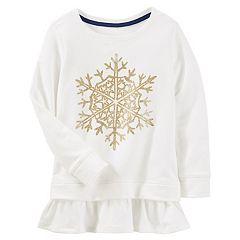 Girls 4-12 OshKosh B'gosh® Glitter Snowflake Peplum Tunic