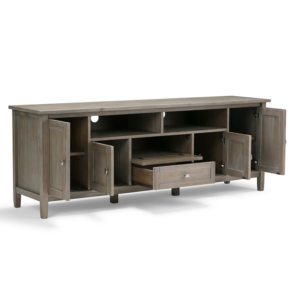 Simpli Home Warm Shaker Media Storage TV Stand