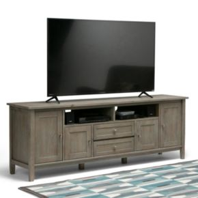 Simpli Home Warm Shaker Media Storage TV Stand