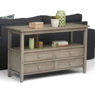 Simpli Home Warm Shaker 4-Drawer Console Table