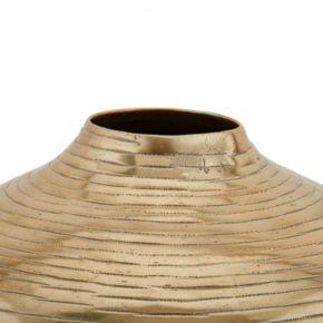 Madison Park Klynn Round Gold Finish Vase