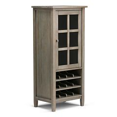 Simpli Home Warm Shaker Wine Rack Storage Cabinet