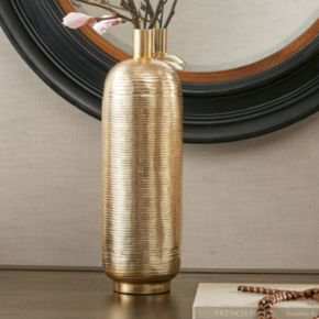 Madison Park Klynn Large Gold Finish Vase