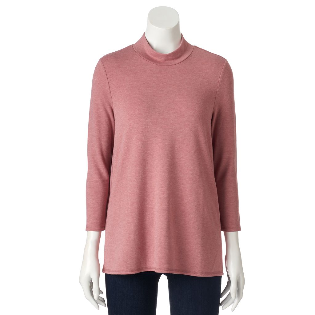 Women's SONOMA Goods for Life™ Solid Mockneck Tee