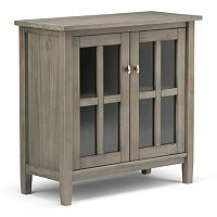 Simpli Home Warm Shaker 2-Door Storage Cabinet