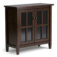 Simpli Home Warm Shaker 2-Door Storage Cabinet