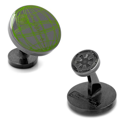 Star Wars Death Star Blueprint Plans Cuff Links