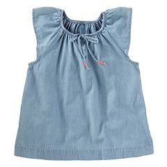 Girls 4-12 OshKosh B'gosh® Chambray Flutter Top
