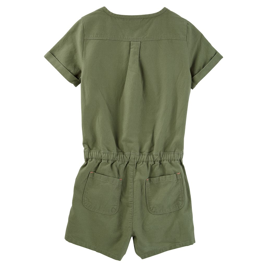 Girls 4-12 OshKosh B'gosh® Olive Romper