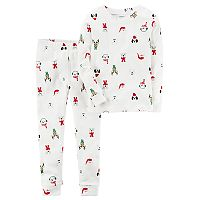 Baby Carter's Christmas Character Print Top & Bottoms Pajama Set