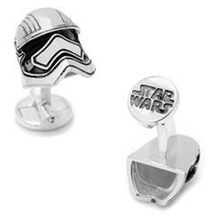 Star Wars: Episode VII The Force Awakens 3D Captain Phasma Helmet Cuff Links