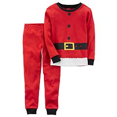 Baby Carter's Santa Suit Top & Bottoms Pajama Set