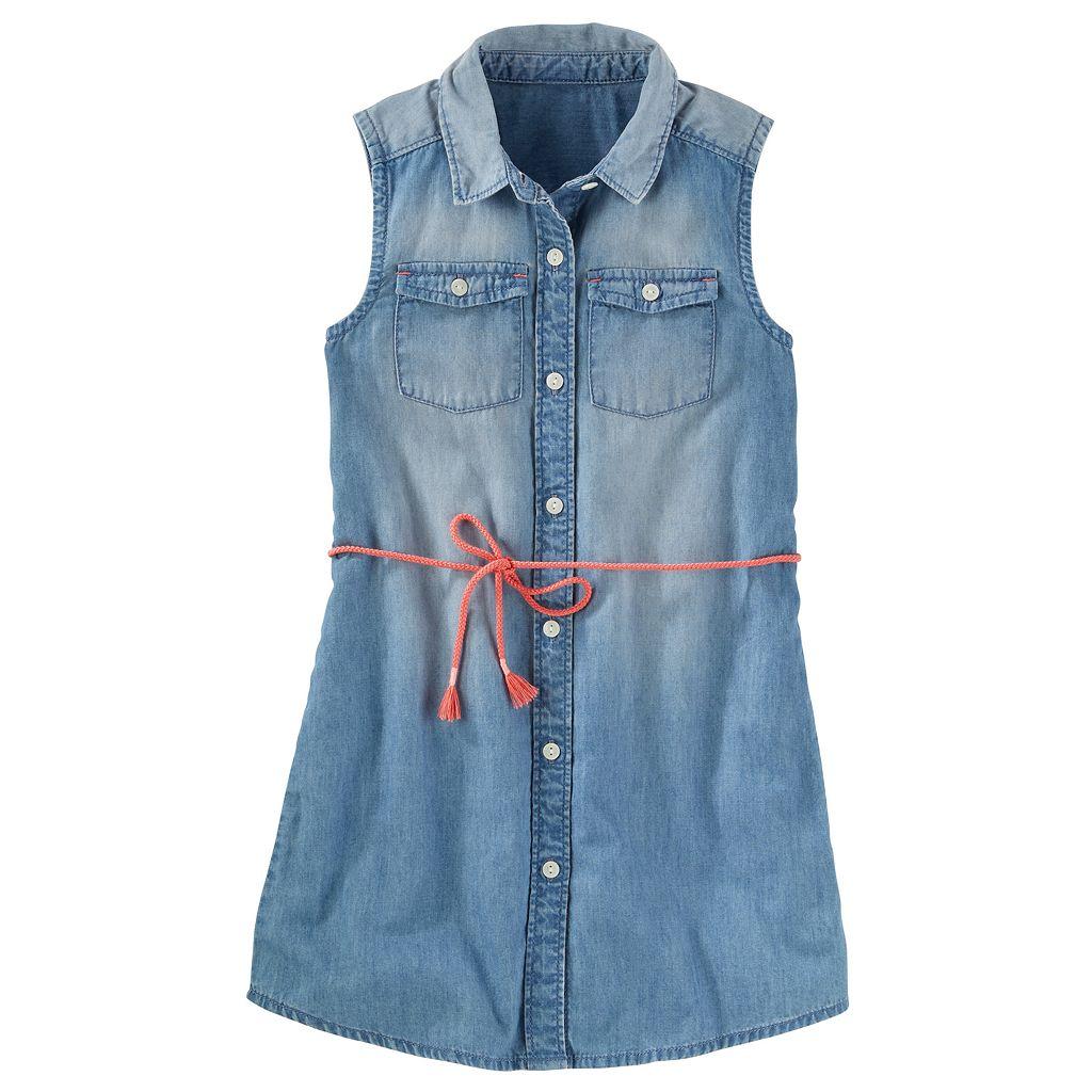 Girls 4-12 OshKosh B'gosh® Button-Front Chambray Dress