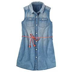 Girls 4-12 OshKosh B'gosh® Button-Front Chambray Dress