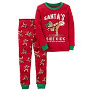 Baby Boy Carter's Gingerbread 'Santa's Sidekick' Top & Pants Pajama Set