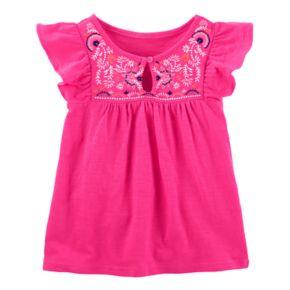 Girls 4-12 OshKosh B'gosh® Pink Embroidered Top