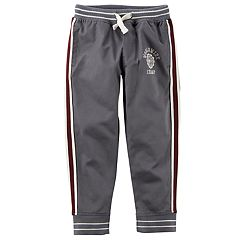 Toddler Boy Carter's Gray Woven Athletic Pants