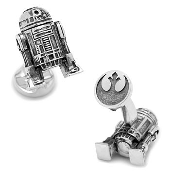 Star Wars 3D R2-D2 Cuff Links
