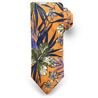 Men's Rooster Tropical Leaf Floral Tie