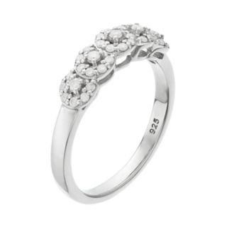 I Promise YouSterling Silver 1/3 Carat T.W. Diamond Halo Promise Ring