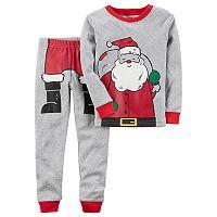 Toddler Boy Carter's Santa Graphic Top & Bottoms Pajama Set