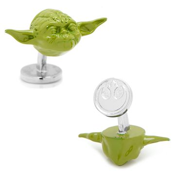 Star Wars 3D Yoda Cuff Links