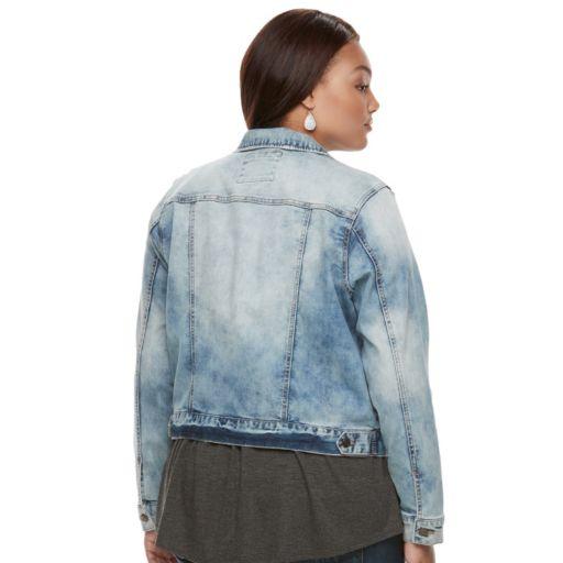 Juniors' Plus Size Mudd® Washed Jean Jacket