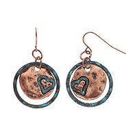 Believe In Heart Disk Drop Earrings