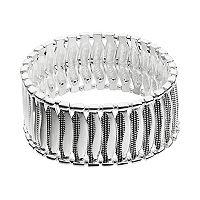 Dana Buchman Beaded Wavy Link Stretch Bracelet