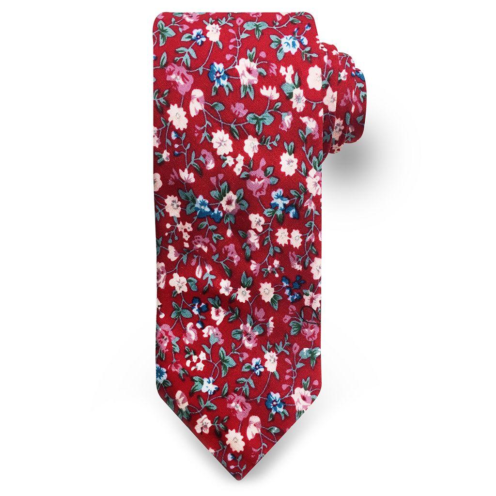 Men's Rooster Floral Tie