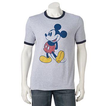 Men's Mickey Mouse Ringer Tee