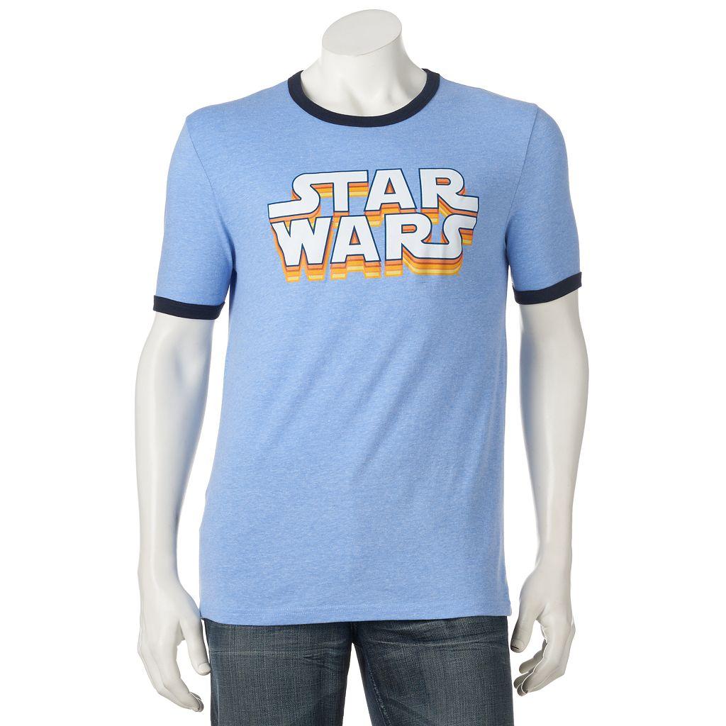 Men's Star Wars Logo Ringer Tee