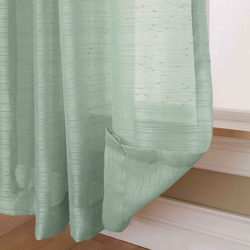 Miller Curtains Pippa Sheer Textured Window Curtain