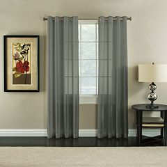 Miller Curtains Robin Sheer Textured Window Curtain