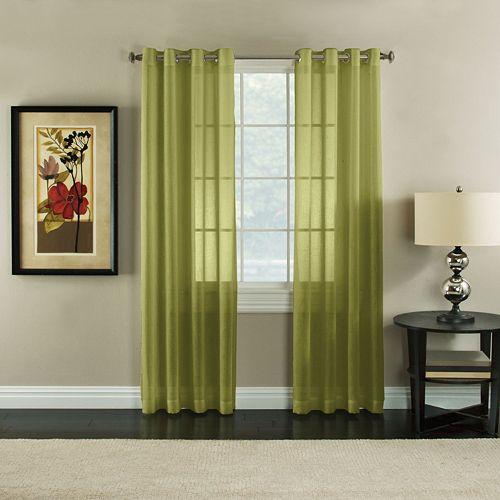 Miller Curtains Robin Sheer Textured Window Curtain