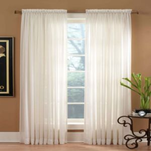 Miller Curtains Solunar Crushed Voile Curtain