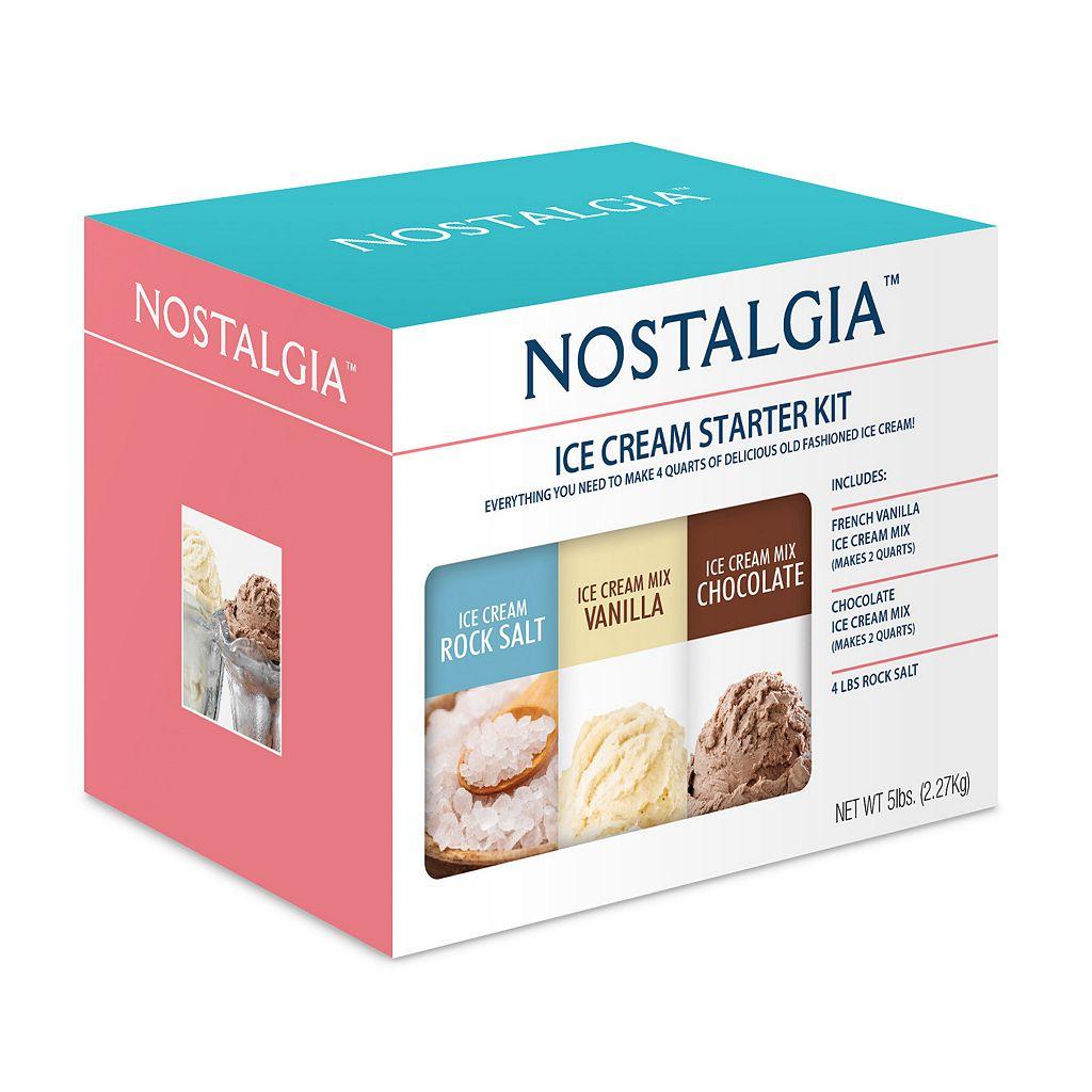Nostalgia Electrics Ice Cream Starter Kit