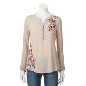 Petite SONOMA Goods for Life? Embroidered Utility Shirt