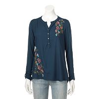 Petite SONOMA Goods for Life™ Embroidered Utility Shirt