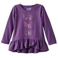 Baby Girl Jumping Beans® Graphic Long-Sleeve Tulip-Hem Tunic